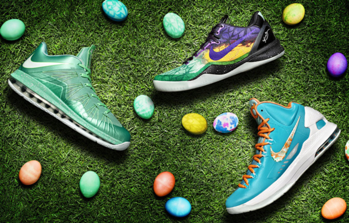 Nike is releasing Easter colorways of three signature shoes. (Nike)