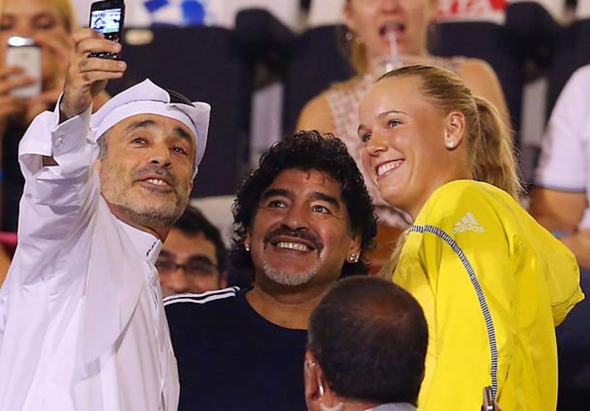 Diego Maradona, Caroline Wozniacki