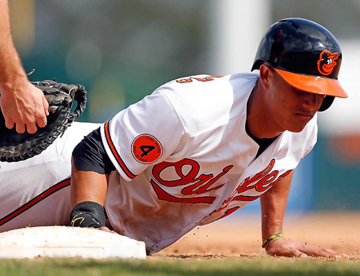 Even at age 20, expect Manny Machado to be on base often this season for the O's. [J. Meric/Getty Images]