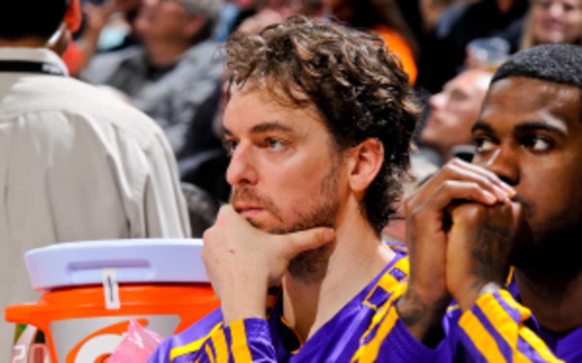 Lakers center Pau Gasol was appointed Tuesday to be the spokesman of Madrid's 2020 Olympic bid committee. (D. Clarke Evans/Getty Images)