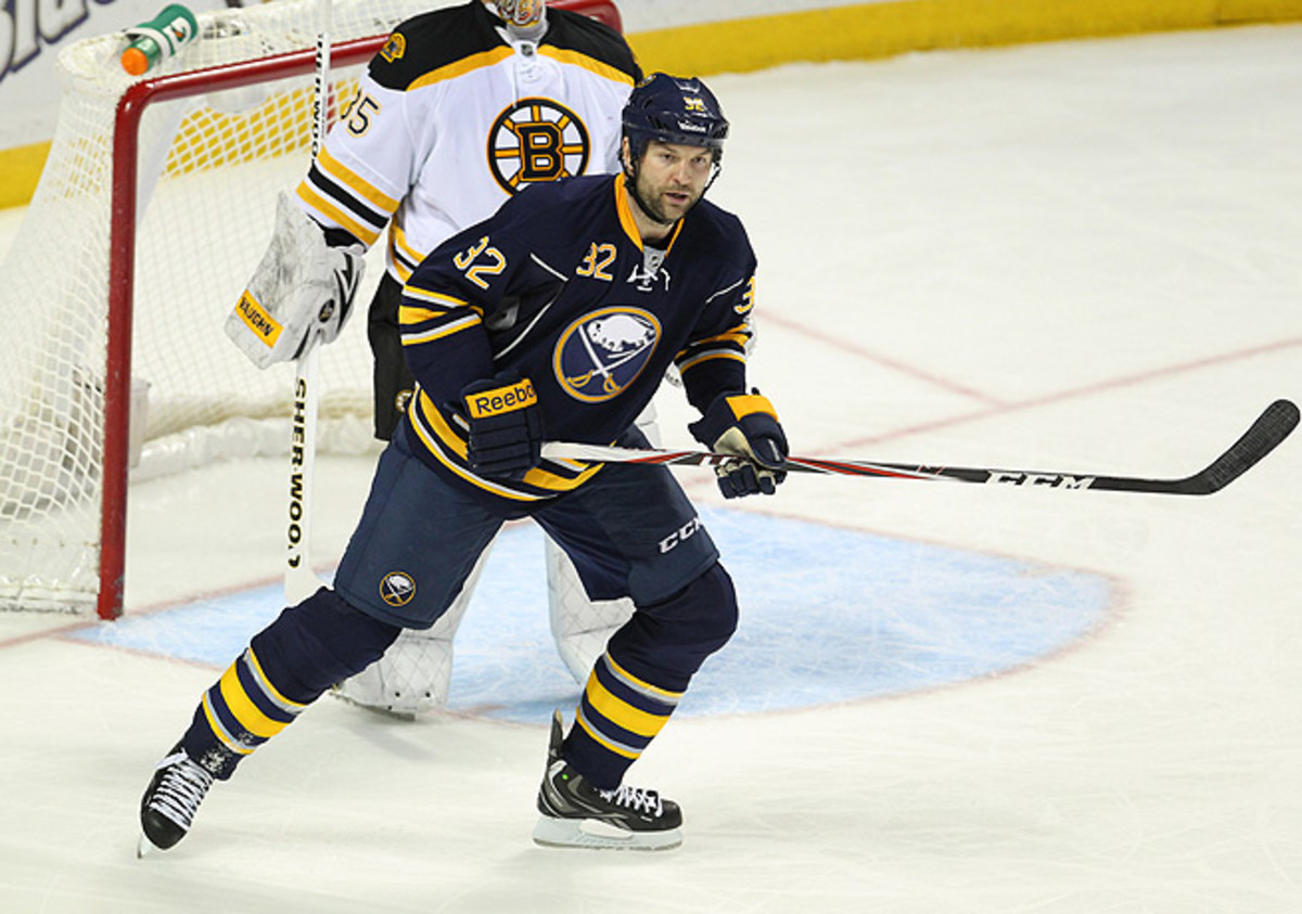 John Scott was ejected from Wednesday's game against the Bruins for charging Loui Eriksson.