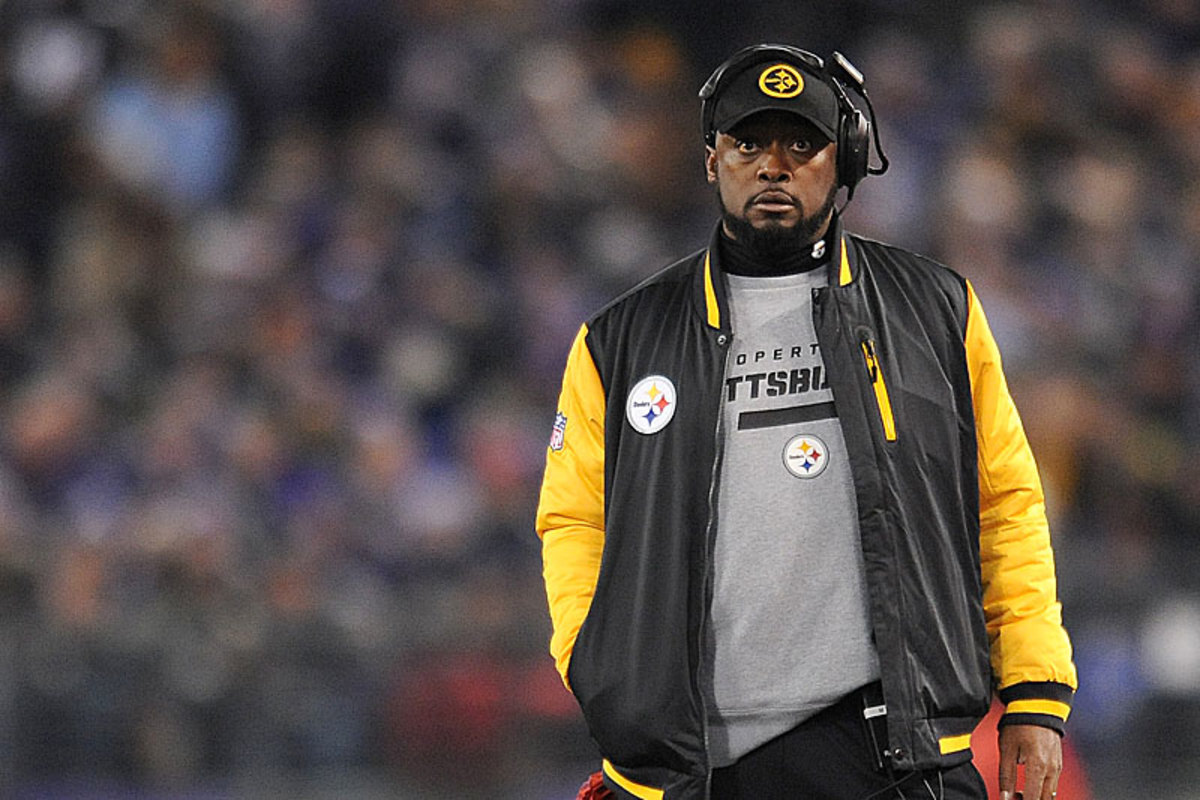 Don't look back—something might be gaining on you. Mike Tomlin found himself in an awkward place on the sideline in Baltimore, and the league will take notice. (Gail Burton/AP)