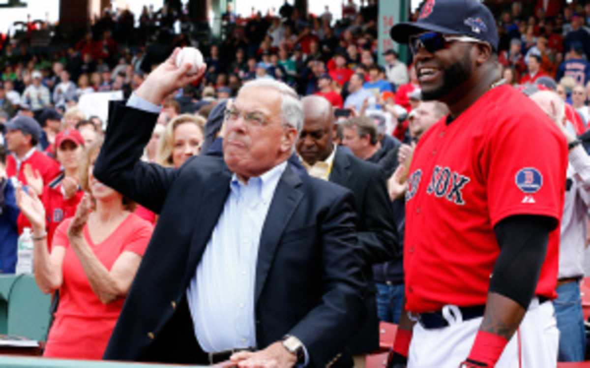 """Boston Mayor Tom Menino has had his share of misspeaks when it comes to sports. On Tuesday, he said he hopes the Red Sox win """"World Series cup."""" (Jim Rogash/Getty Images)"""