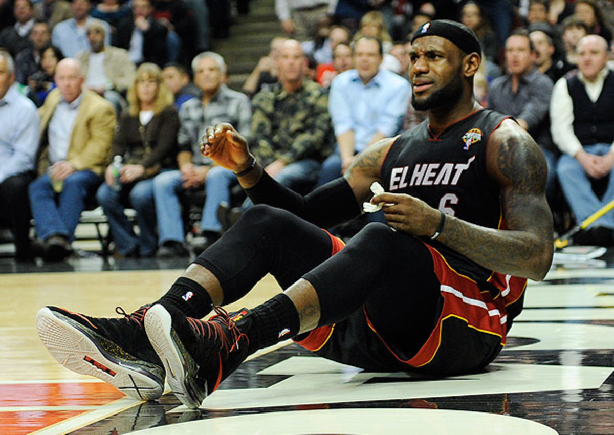 LeBron James understands flopping can provide a competitive advantage