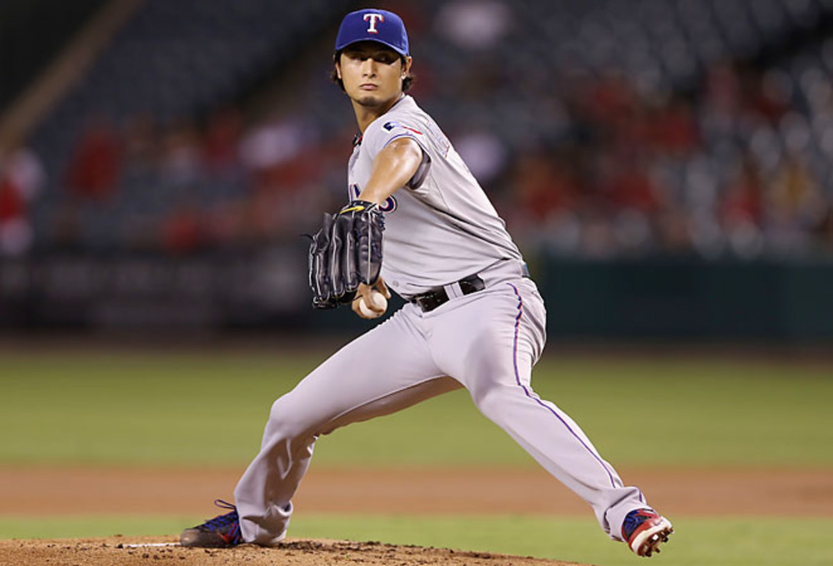 In 29 starts as a rookie, Yu Darvish struck out 221 batters while posting a 3.90 ERA and 16 wins.