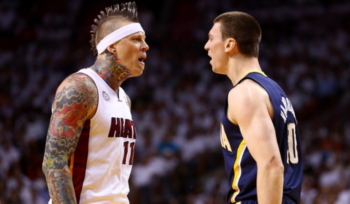 David Stern said that Chris Andersen's shove of Tyler Hansbrough could be under further review. (Photo by Streeter Lecka/Getty Images)