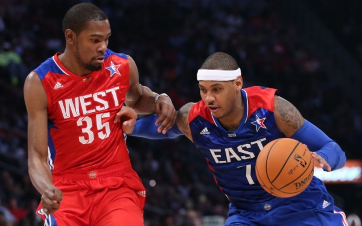 The Knicks and Nets will host the 2015 NBA All-Star Game in New York. (Ronald Martinez/Getty Images)
