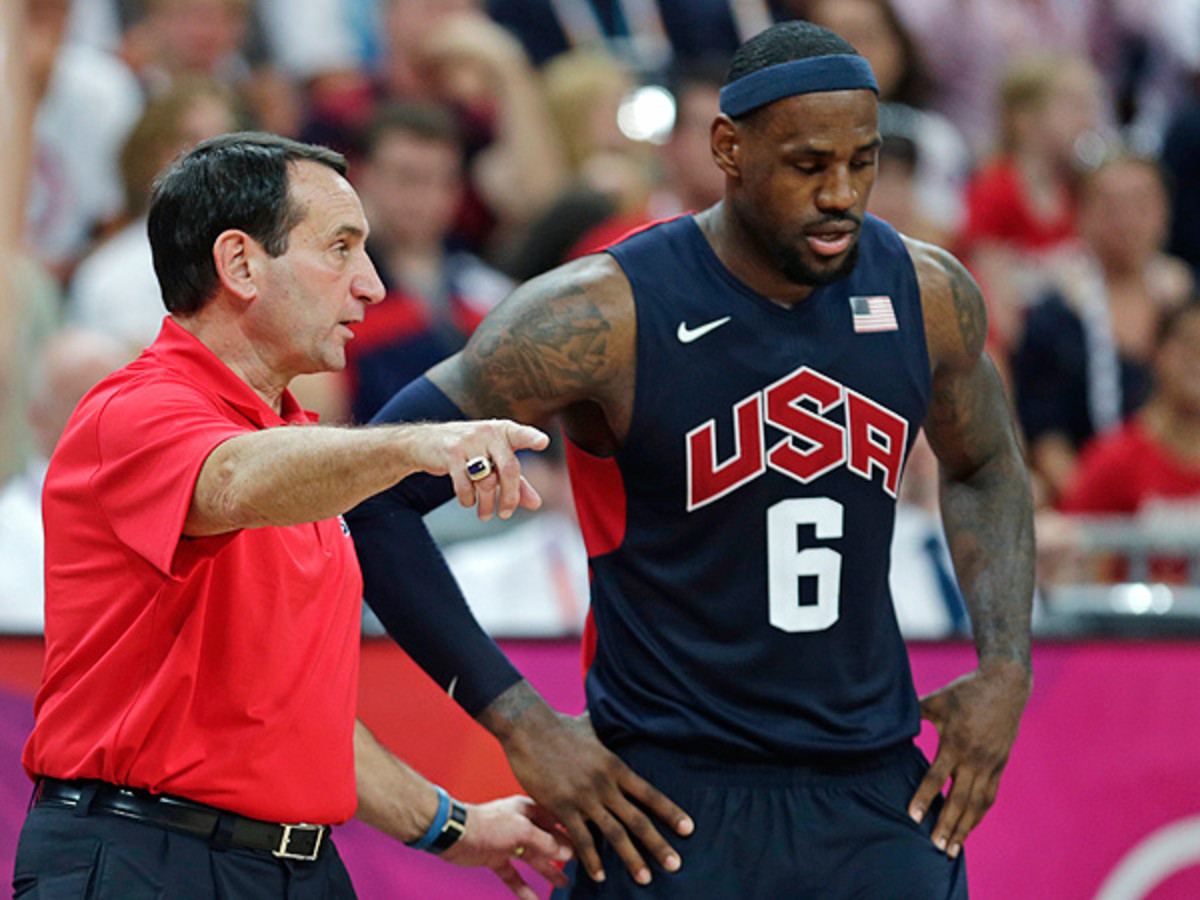 Mike Krzyzewski is 62-1 as head coach for USA basketball since his start in 2006. (Charles Krupa/AP)
