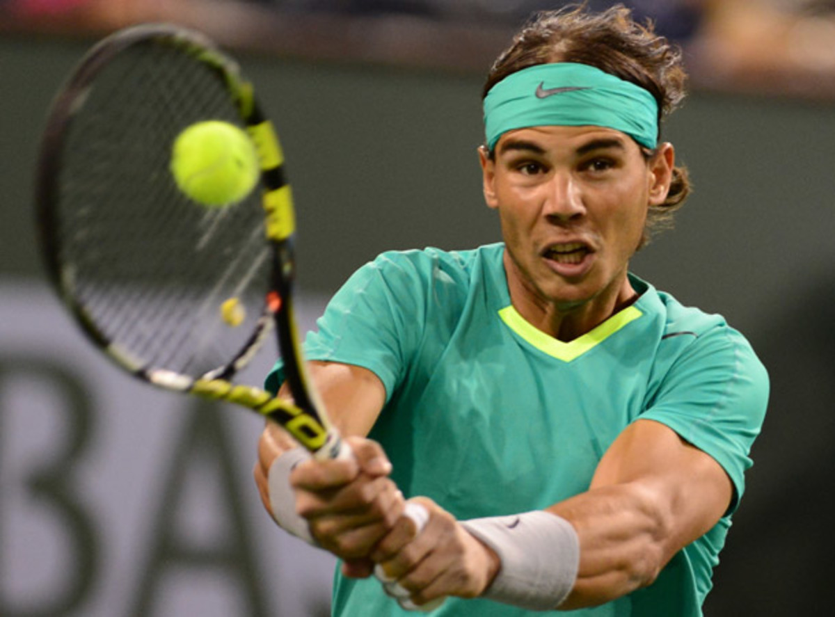 Rafael Nadal had little trouble with Roger Federer at Indian Wells, beating him in just under an hour and a half. (Frederic J. Brown/Getty Images)