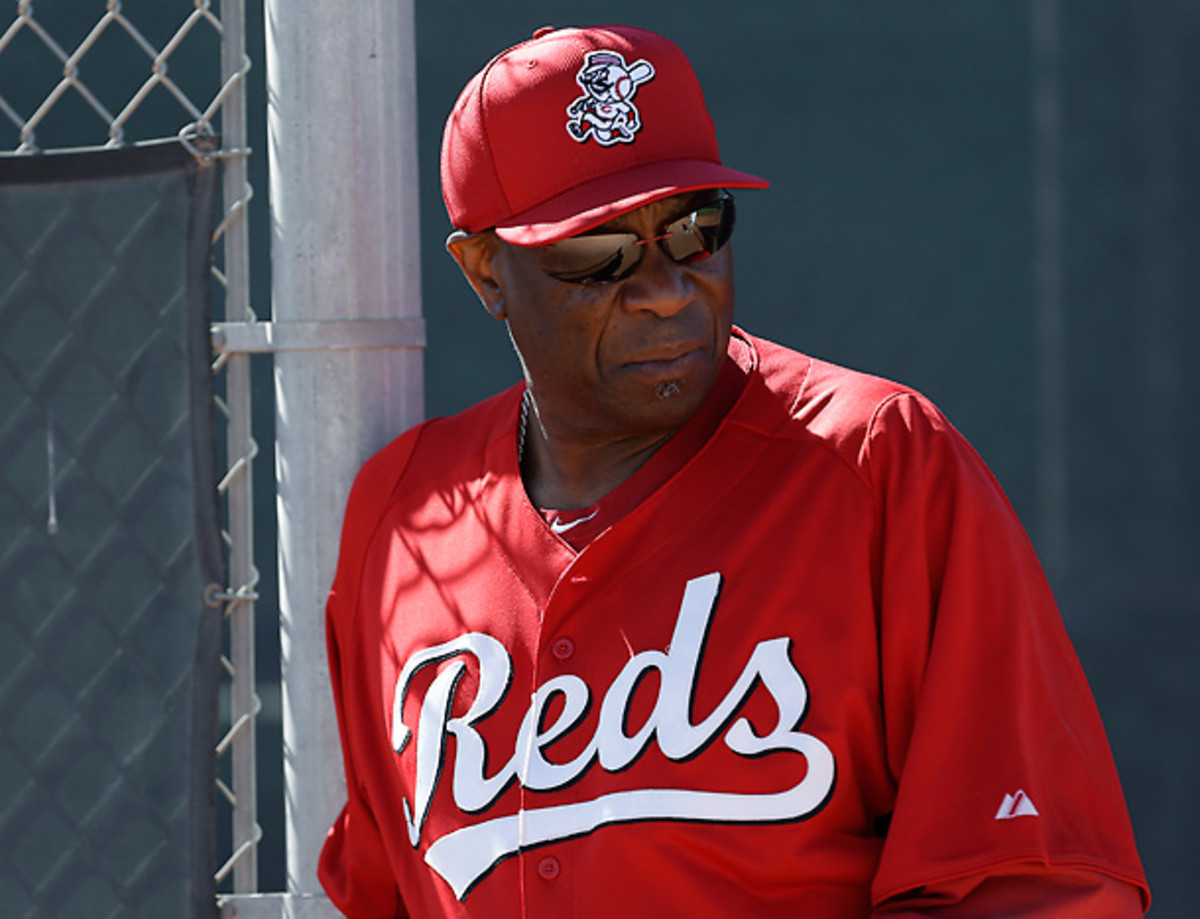 Dusty Baker was vocally displeased with Kirk Gibson after a dispute over whether to use the DH. [Paul Sancya/AP]