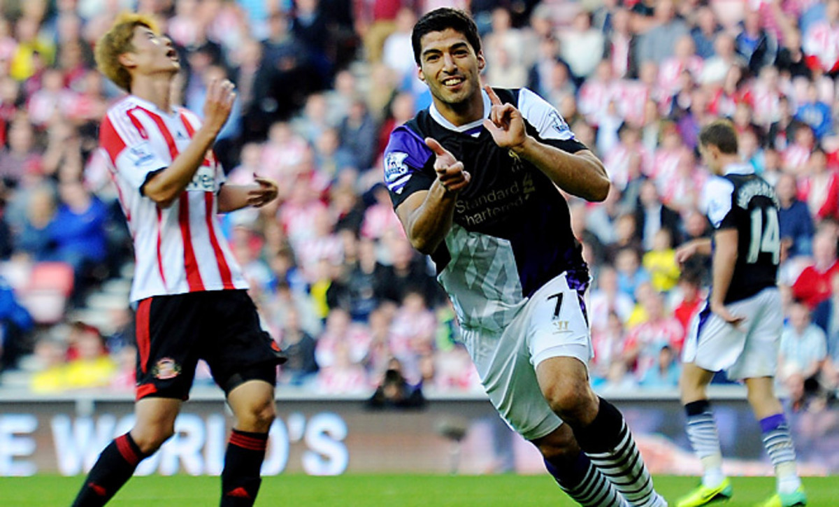 Luis Suarez marked his return to the EPL with two goals against Sunderland.
