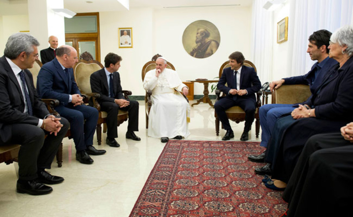 A delegation from Juventus met with Pope Francis weeks before the club was investigated for tax fraud.