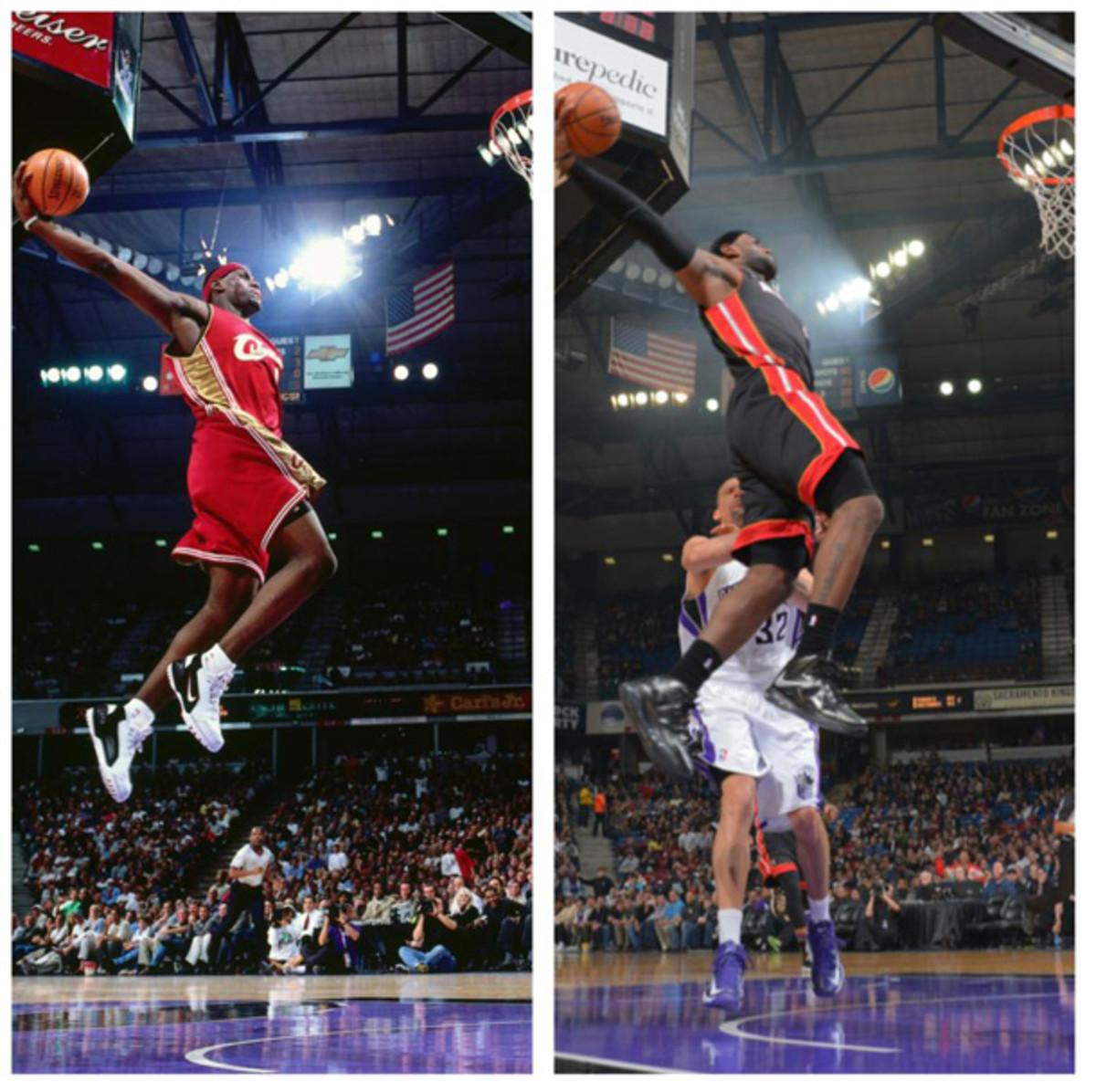 LeBron James in 2003 vs. LeBron James in 2013 (Rocky Widner, Sacramento Kings)