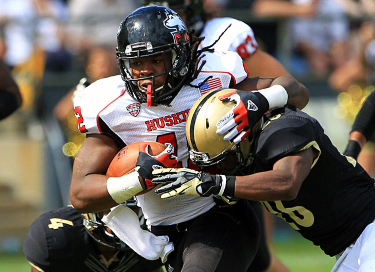 Running back Cameron Stingily and Northern Illinois are 4-0 with road wins over Iowa and Purdue.