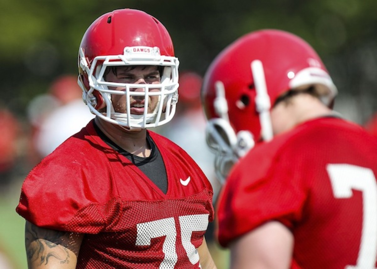 Every second Kolton Houston is not suited up next to Hutson Mason is a second wasted. (AP)