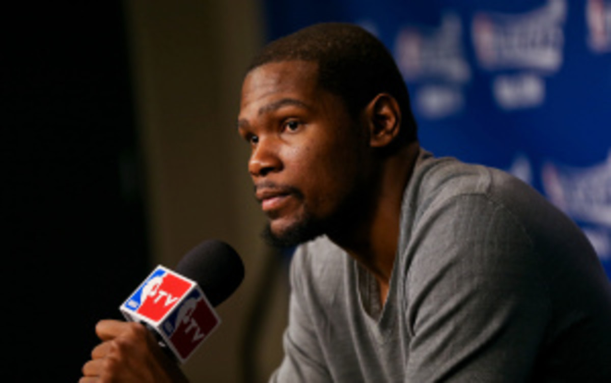 Kevin Durant donated $1 million to the Red Cross for tornado relief. (Layne Murdoch/Getty Images)