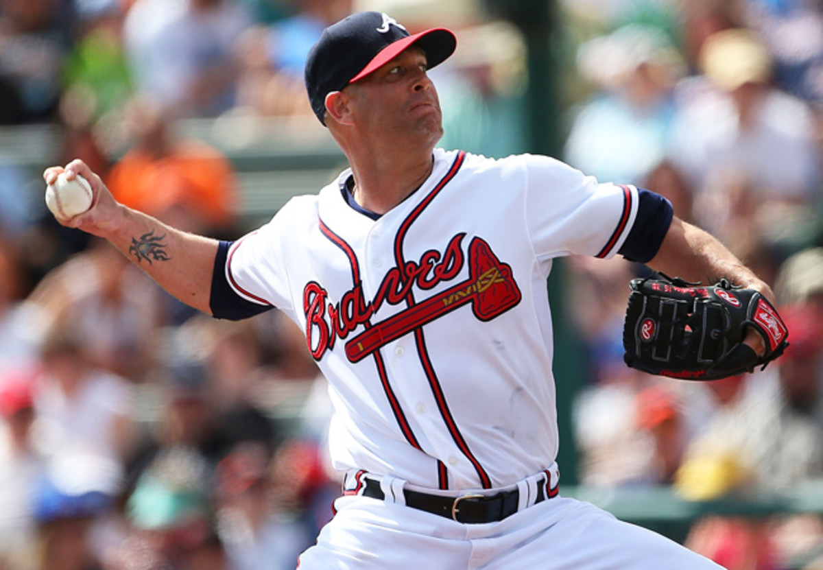 Braves starter Tim Hudson tossed two innings of no-hit ball in the Grapefruit League opener against the Tigers.