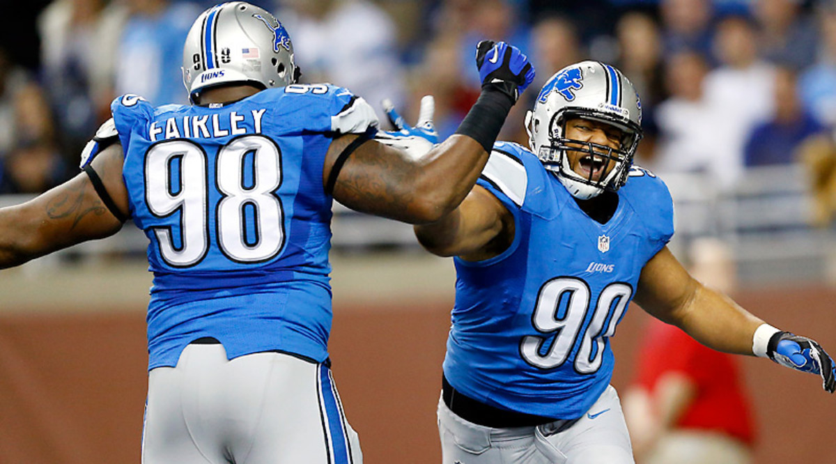 Nick Fairley and Ndamukong Suh could prove to be an elite pair of defensive tackles. The Lions' defense certainly needs them to be. (Rick Osentoski/AP)