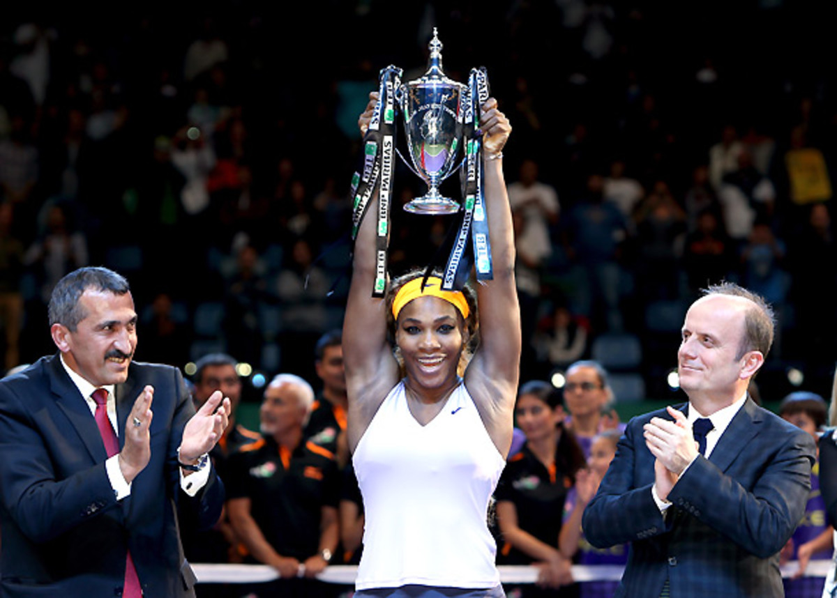Serena Williams capped off her dominant season by winning the WTA title. (Matthew Stockman/Getty Images)