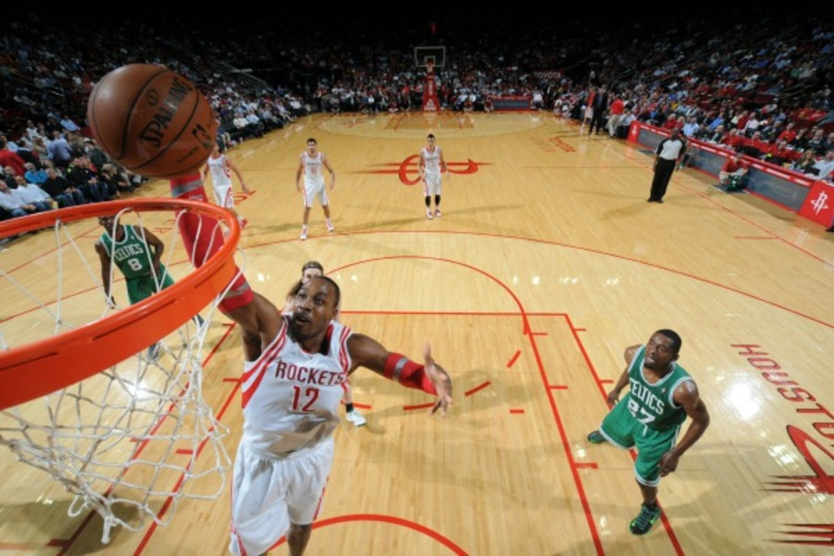Dwight Howard is averaging 10.4 field-goal attempts per game, his lowest since 2009-10. (Bill Baptist/Getty Images)