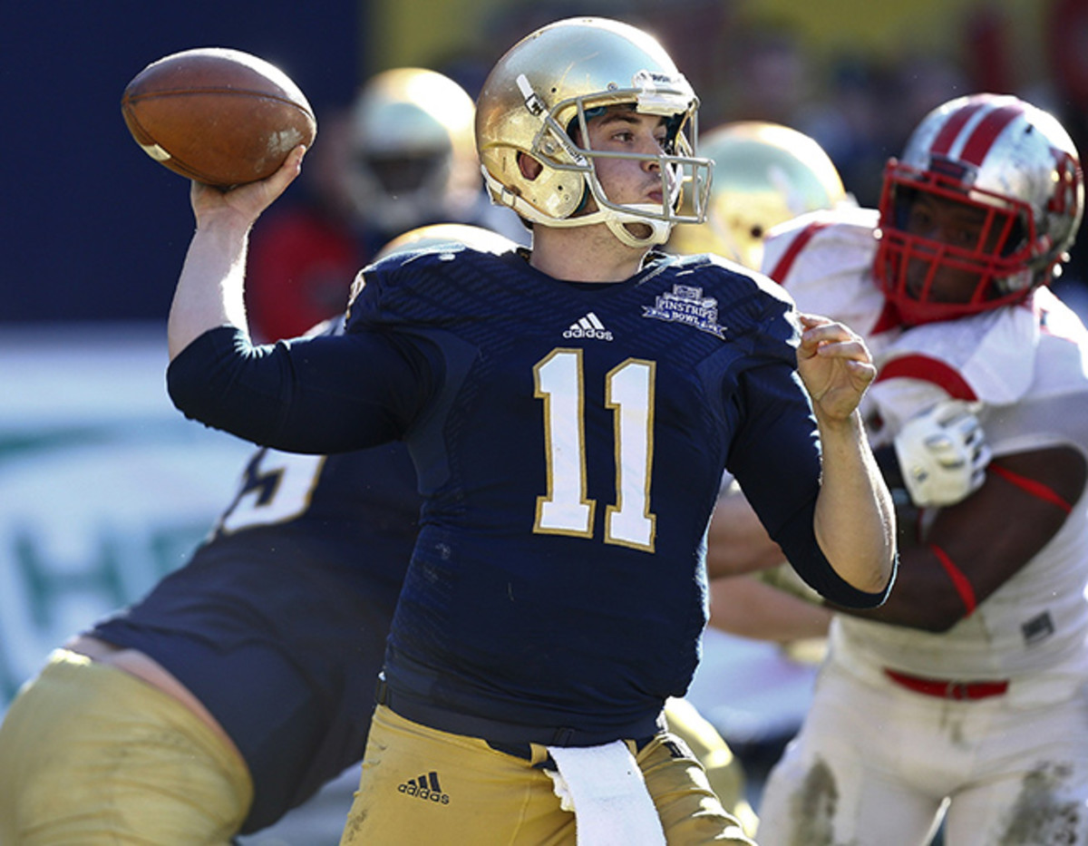 In his final collegiate game, Tommy Rees racked up 319 yards passing against Rutgers.