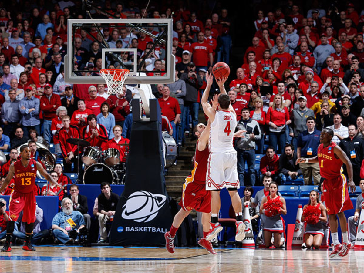 Aaron Craft hit the game-winning shot for Ohio State in its battle against Iowa State Sunday. (Joe Robbins/Getty Images)