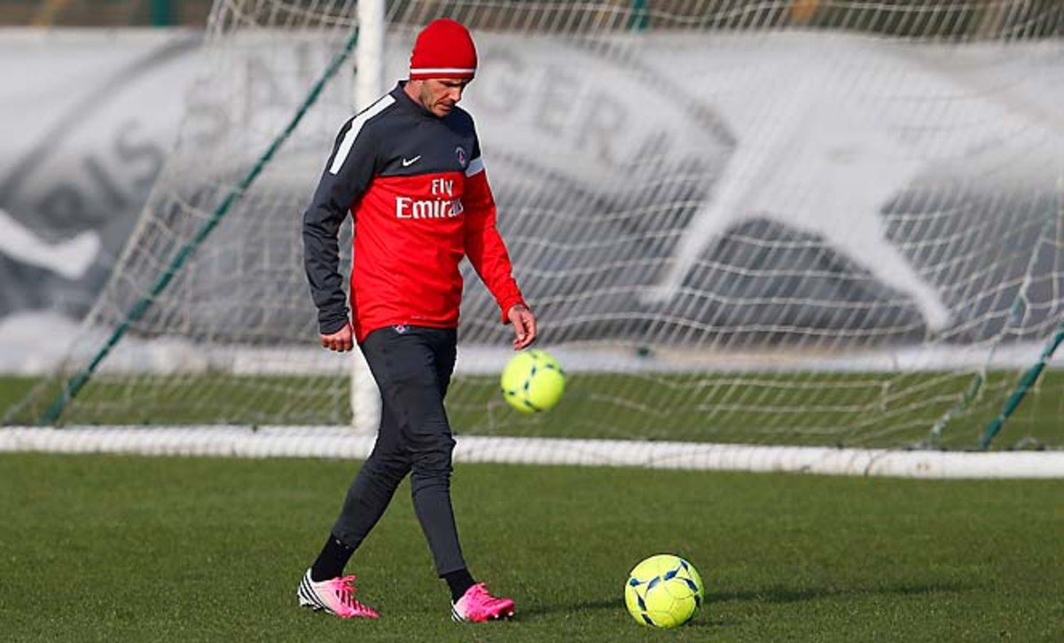 David Beckham has yet to make his match debut with France's Paris Saint-Germain.