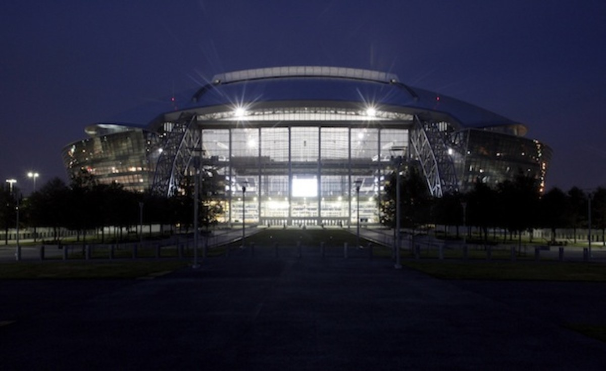 Cowboys Stadium: Space Camp for football fans, if Space Camp included bizarrely obstructed views of  neighboring galaxies. (AP)