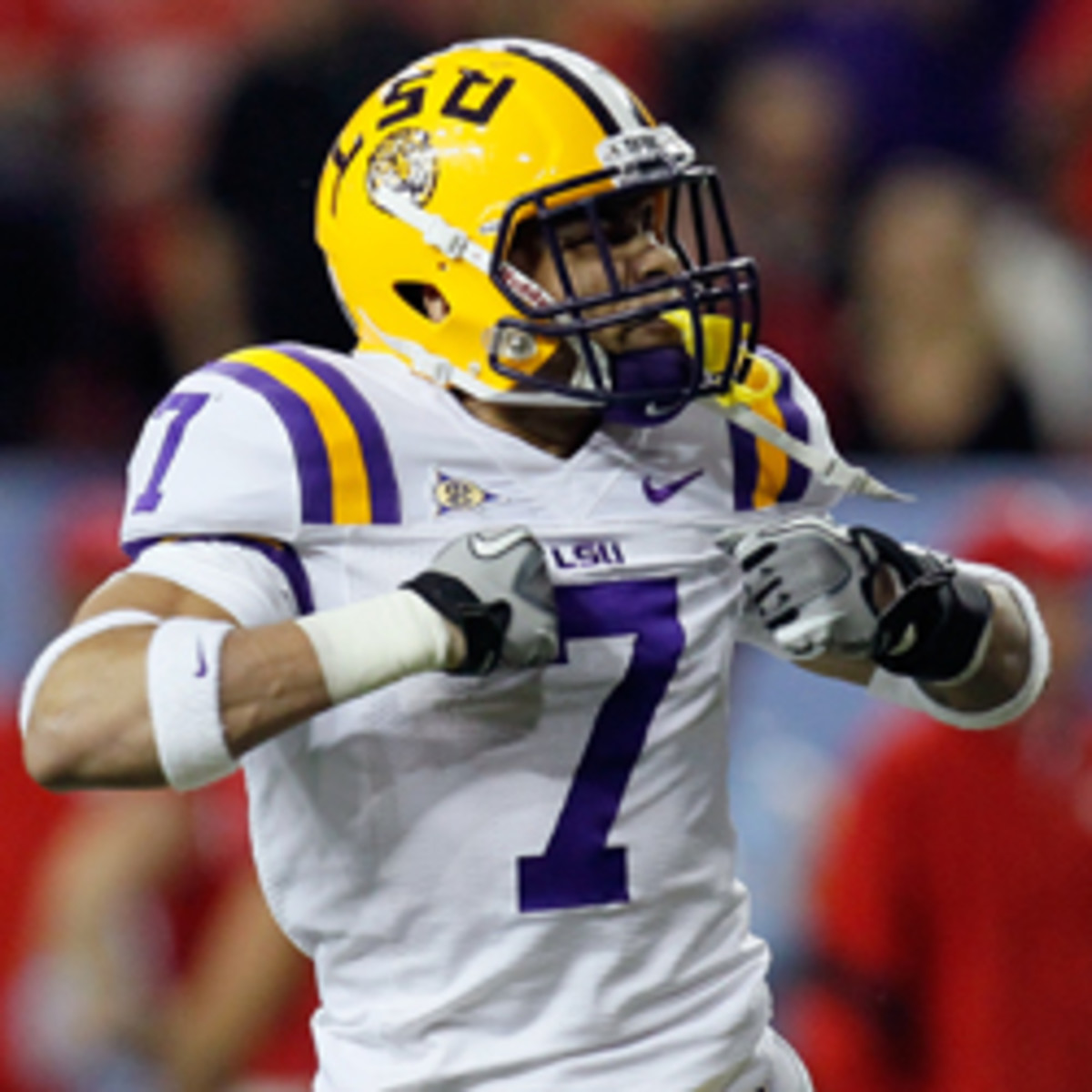 Ex-LSU cornerback Tyrann Mathieu reportedly told NFL teams that he failed more than 10 drug tests in college. (Kevin C. Cox/Getty Images)