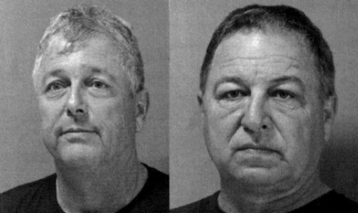 High school football game officials Chris Gambino and Jim Radcliffe were arrested. (St. Tammany Parish Sheriff's Office)