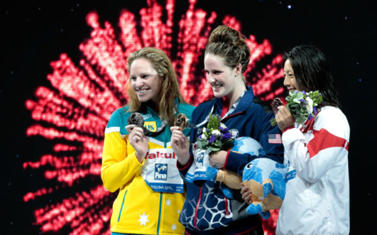 Missy Franklin gave up her chance to win eight gold medals at the world swimming championships. (Adam Pretty/Getty Images)