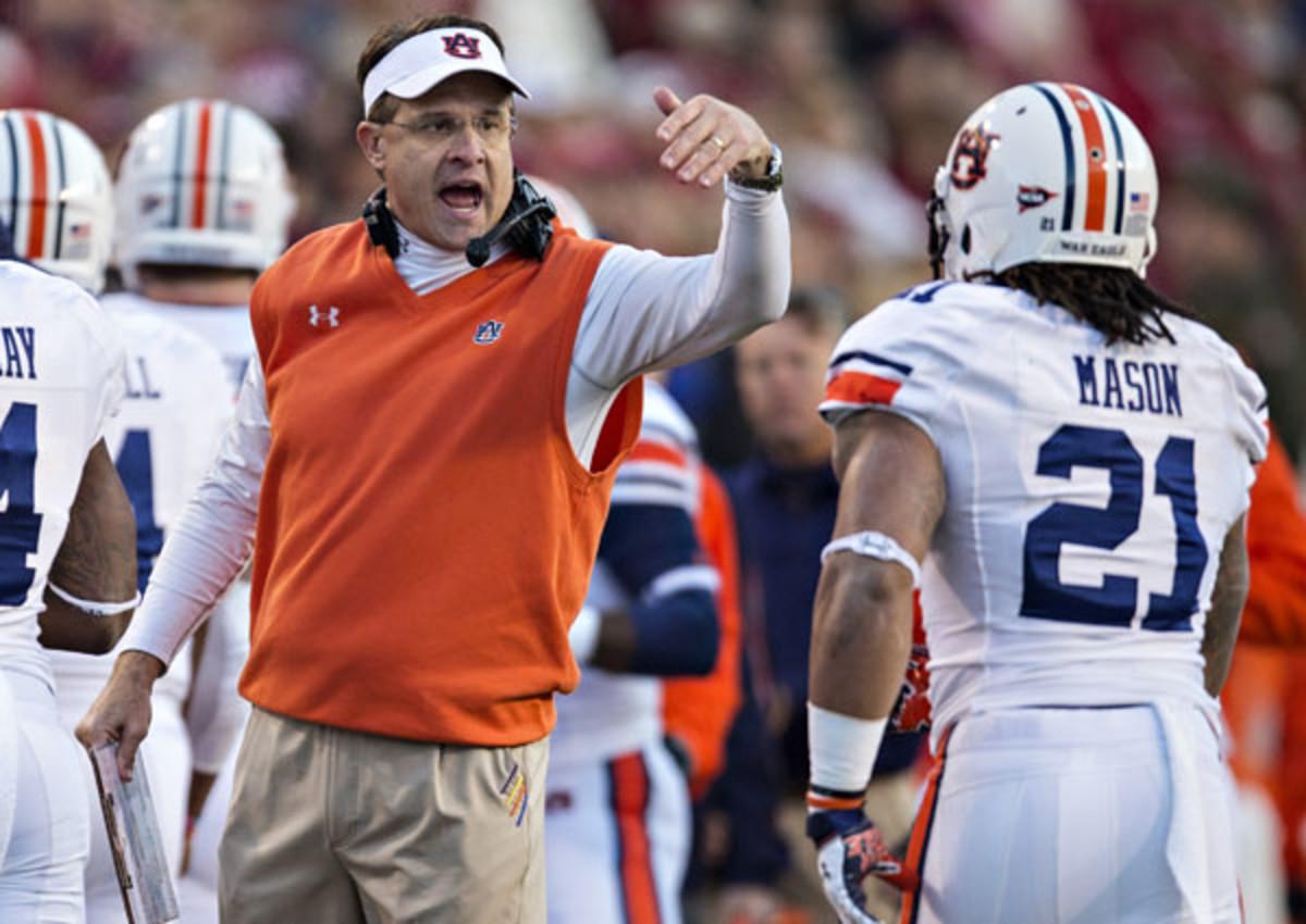 Gus Malzahn's Auburn team has only one loss. (Wesley Hitt/Getty Images)