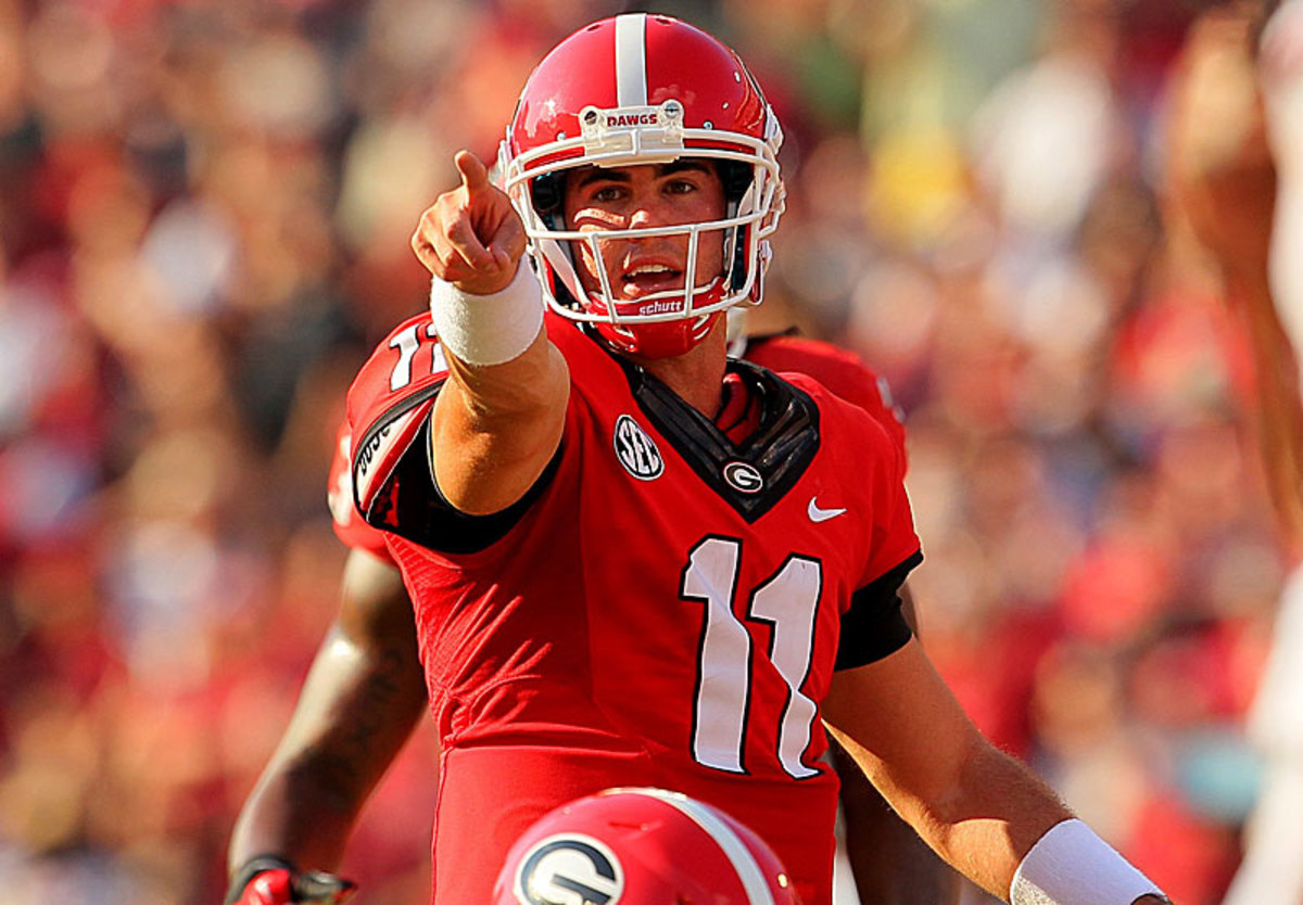 Aaron Murray has topped a 200 rating (244.2, 213.9) in consecutive games.