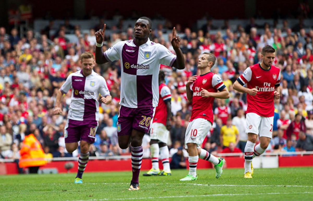 Christian Benteke has scored four goals in five appearances for Aston Villa this season.