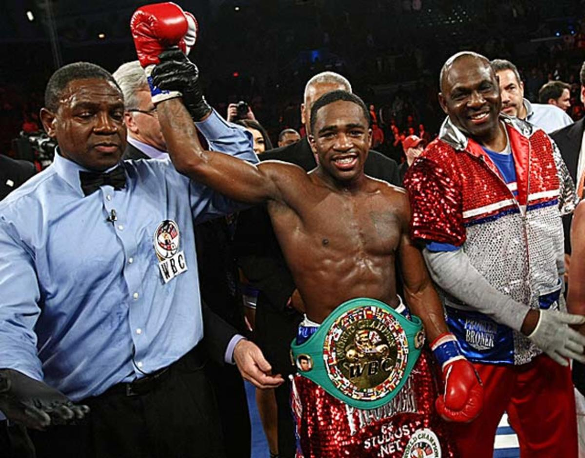 With his victory over Gavin Rees, Adrien Broner improved his career record to 26-0. (Tim Larsen/AP)