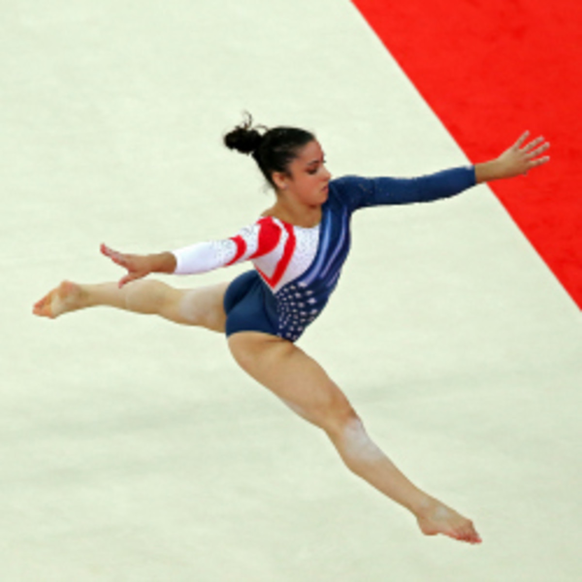 Aly Raisman, who won Olympic gold on the floor exercise, will join Dancing with the Stars and show off her skills on the dance floor. (Hannah Johnston/Getty Images)