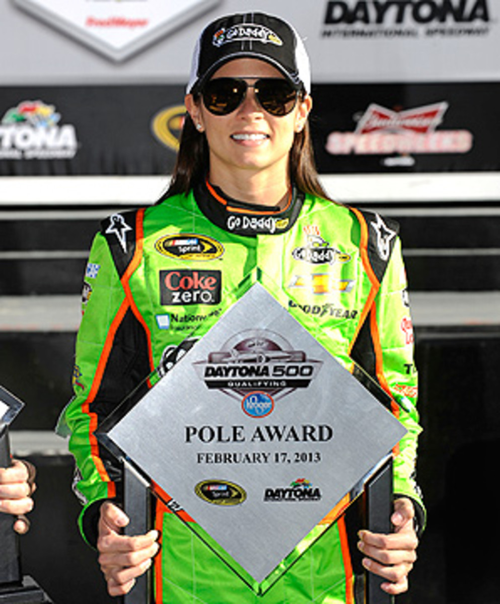 Danica Patrick is handling the intense pressure of the Daytona 500 without flinching.