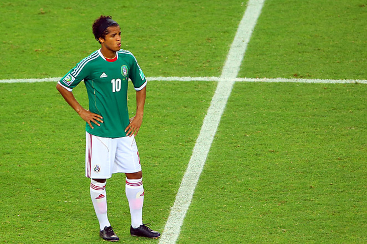 Although he displayed flashes of inspired play vs. Brazil, Giovanni Dos Santos has not scored for Mexico since August 2012.