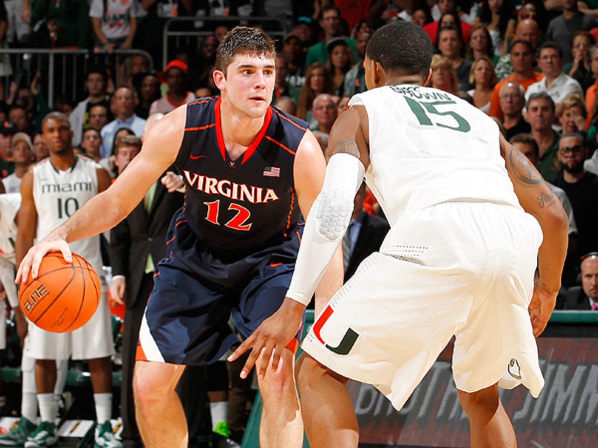 Virginia's Joe Harris has averaged 16.3 points, 4.0 rebounds and 2.2 assists per game. (Joel Auerbach/Getty Images)
