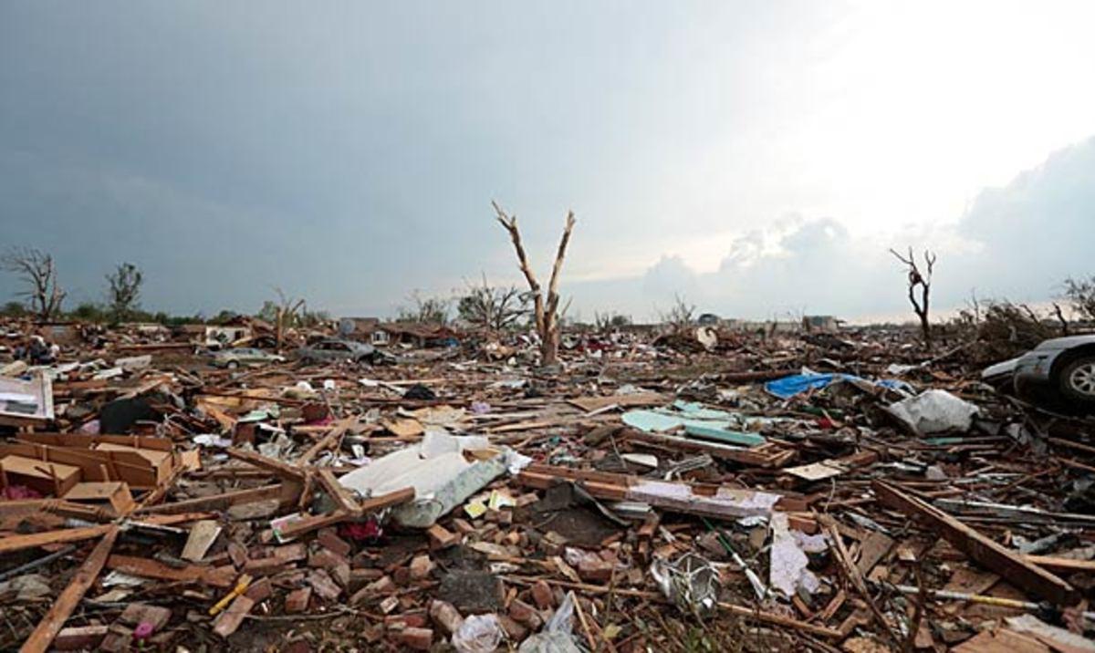 Moore, Oklahoma after the tornado