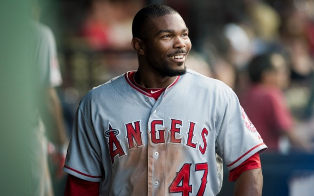 Angels second baseman Howie Kendrick is viewed as a top trading chip this offseason. (Jason Miller/Getty Images)