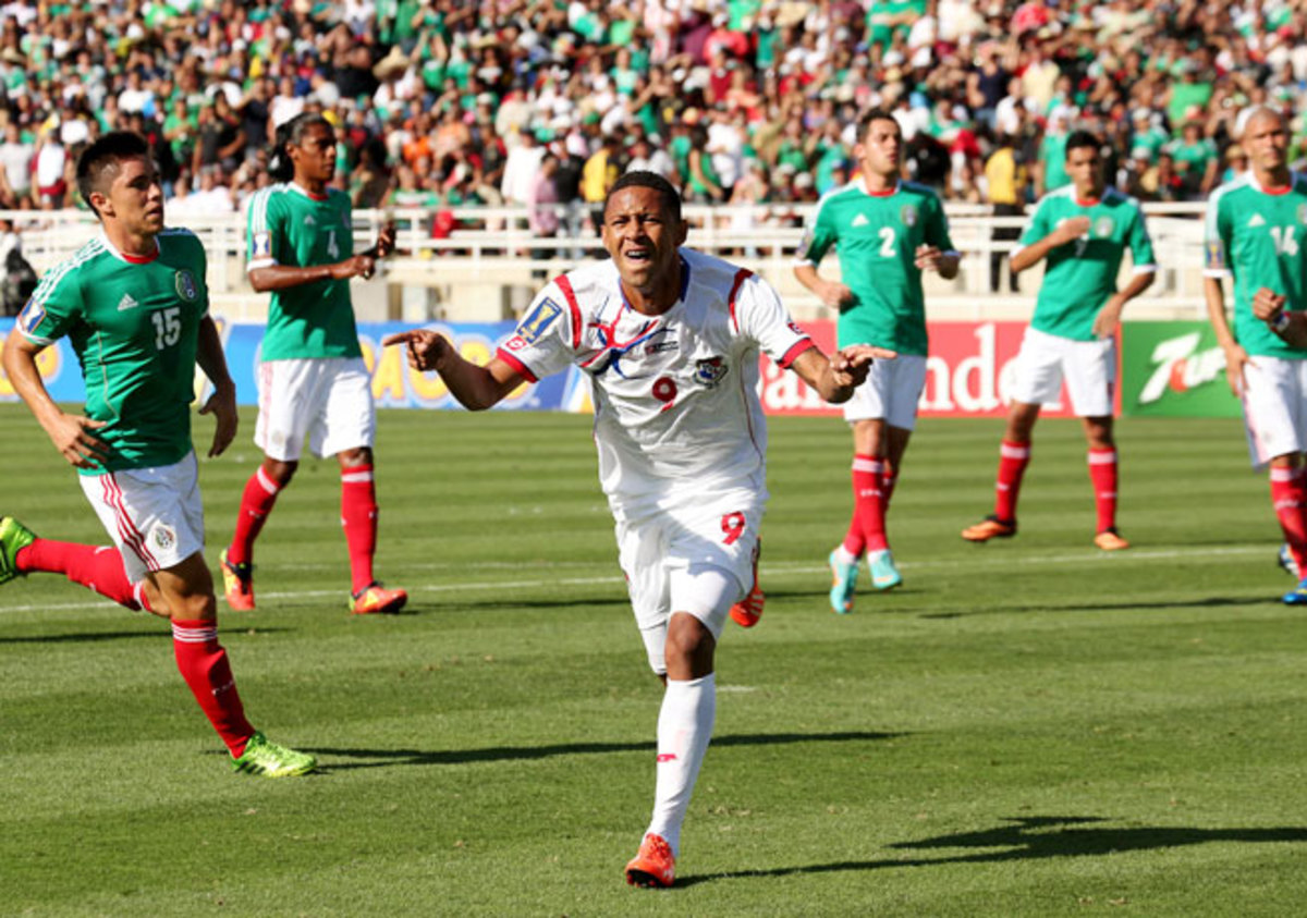 Gabriel Torres celebrated after giving Panama the lead with a penalty kick goal in the seventh minute.