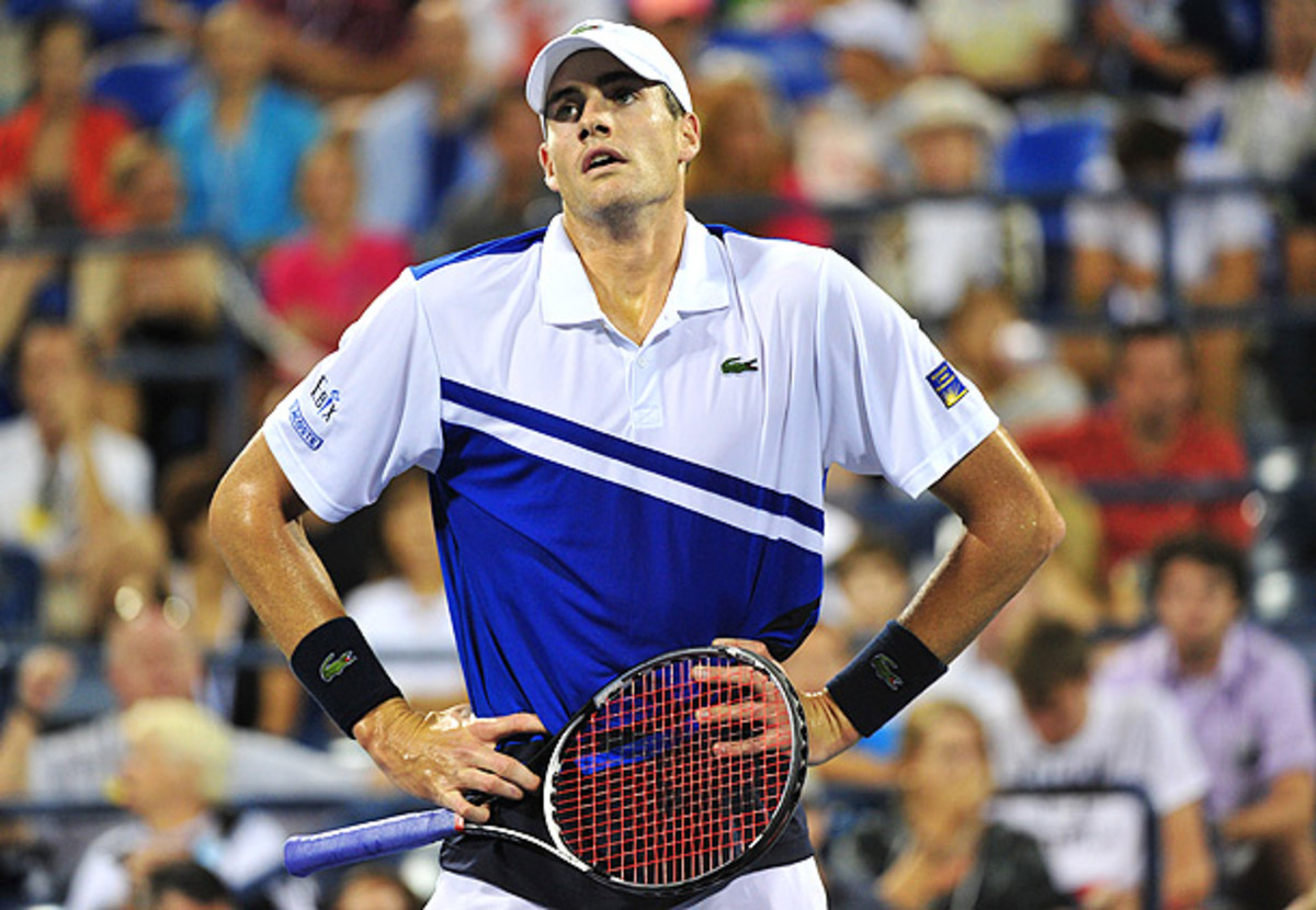 John Isner resolves to minimize his frustration in the New Year. (Stan Honda/AFP/Getty Images)