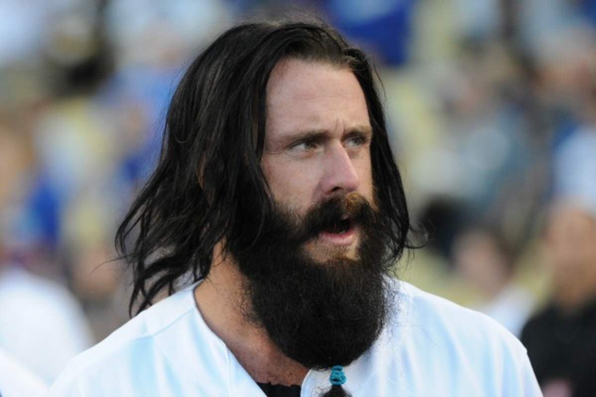 Brian Wilson is coveted by severals teams after recovering from Tommy John surgery. (Lisa Blumenfeld/Getty Images)