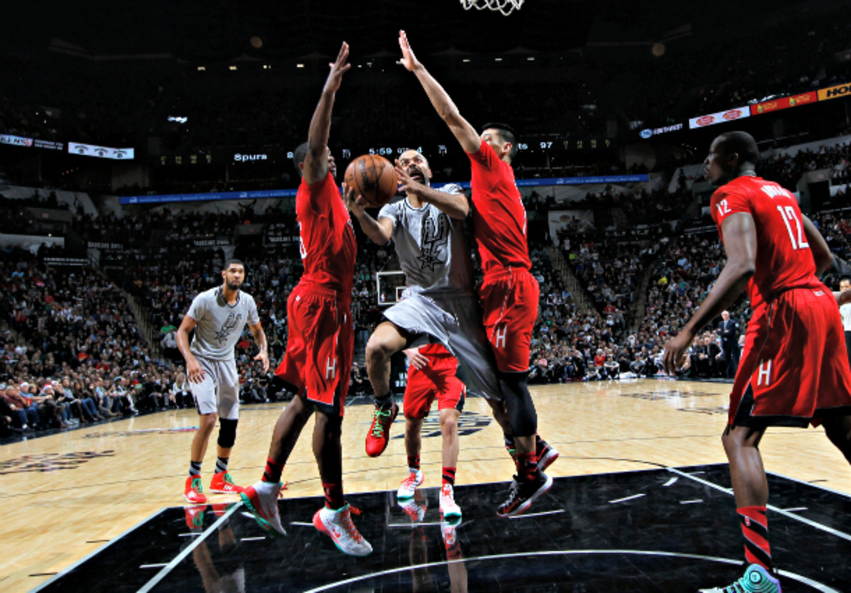 Houston smothered Tony Parker on Wednesday, holding him to a season-low six points. (Chris Covatta/NBAE via Getty Images)