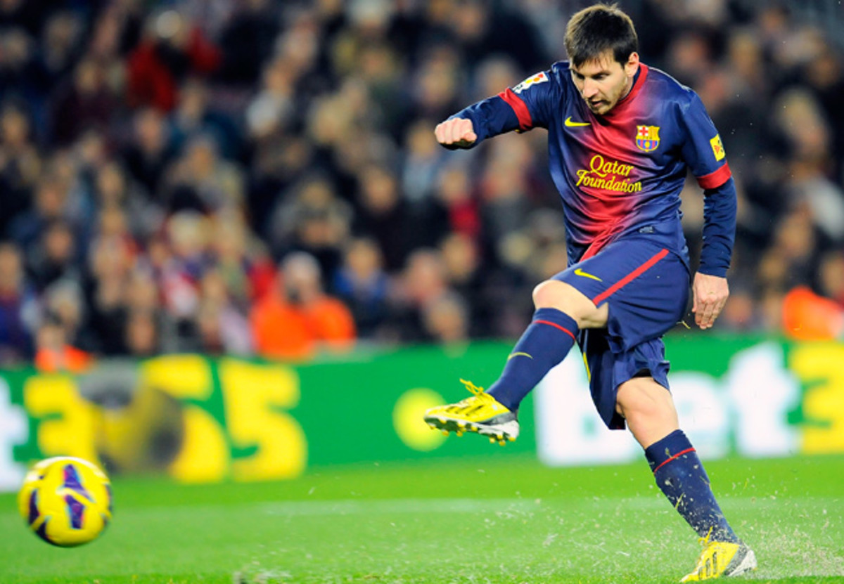 Lionel Messi had 79 goals for Barcelona and finished 2012 with 91 overall, breaking a 40-year-old record.