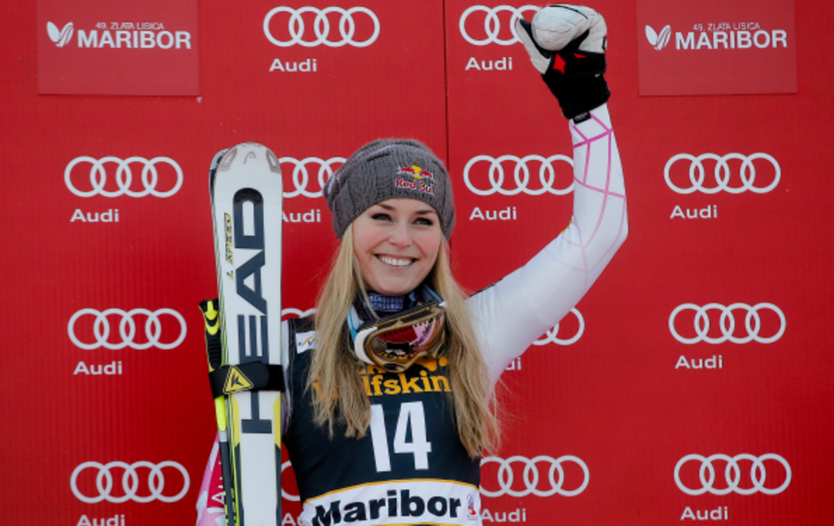 Lindsey Vonn is the only American woman to win the gold in the Olympic downhill event. (Stanko Gruden/Getty Images)