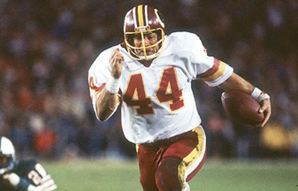 Former Redskins running back John Riggins (44) is one of five Hall of Famers suing NFL films.