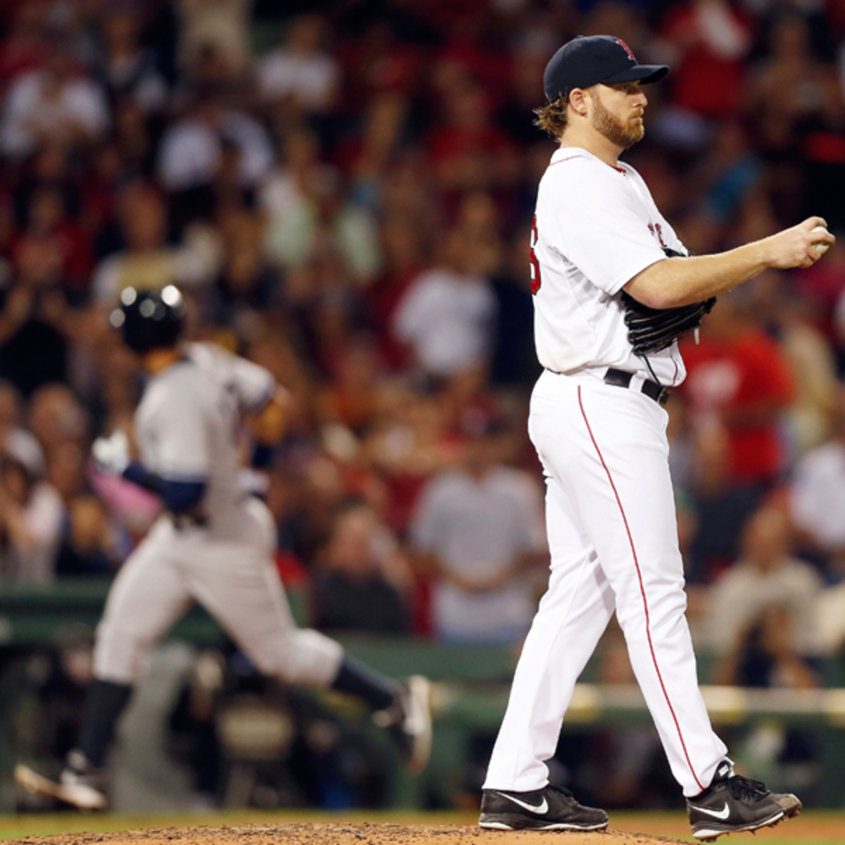 Ryan Dempster was given a five-game suspension for throwing at Alex Rodriguez. (Jared Wickerham/Getty Images)