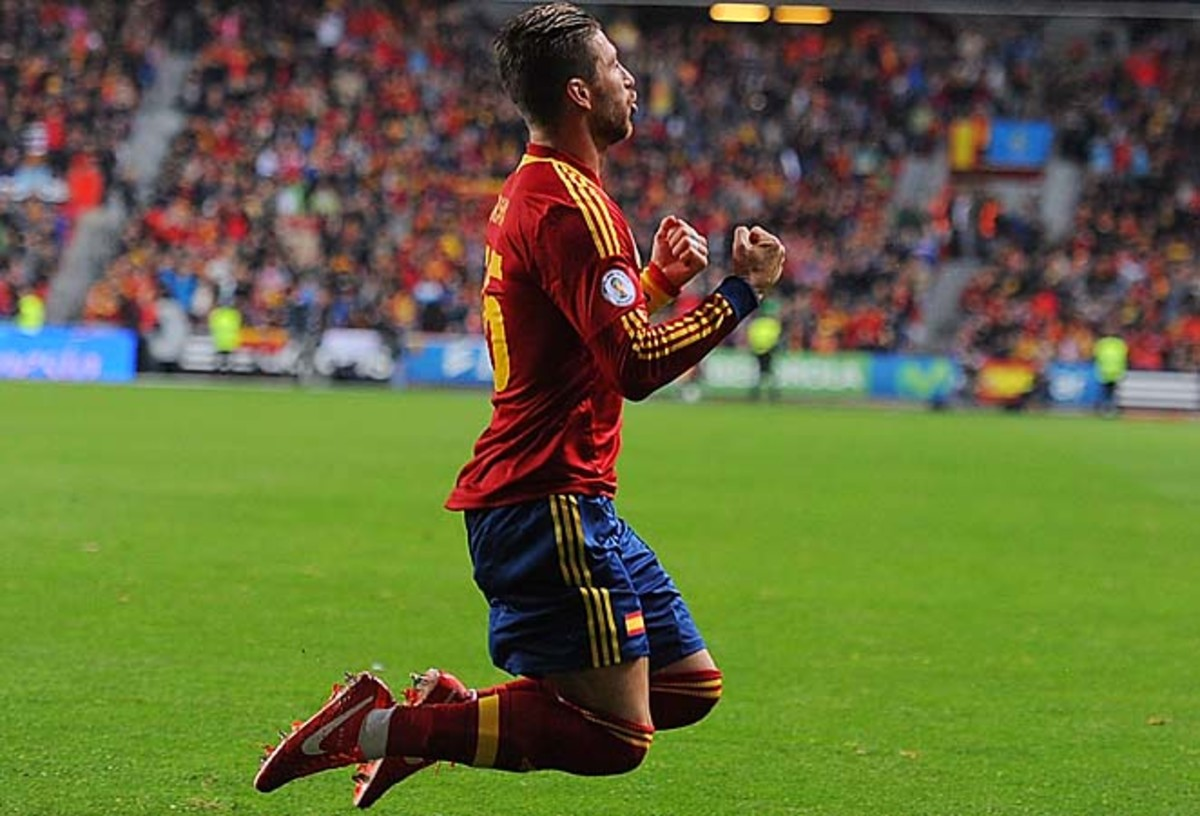 Sergio Ramos scored the lone goal for Spain, which plays France next week.